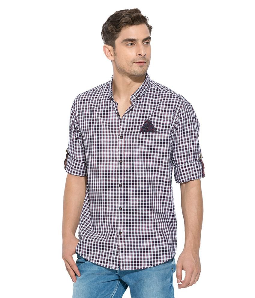 726344a747 Mufti Red Checkered Shirt - Buy Mufti Red Checkered Shirt Online at Best  Prices in India on Snapdeal