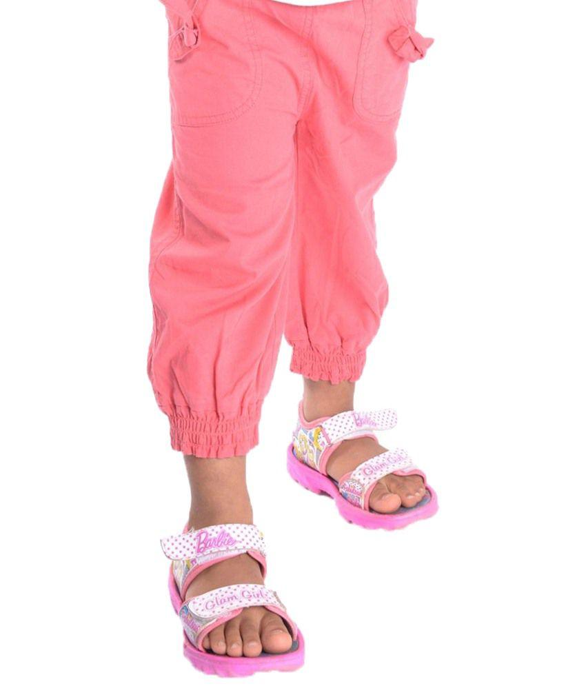 Oye Pink Capris for Girls
