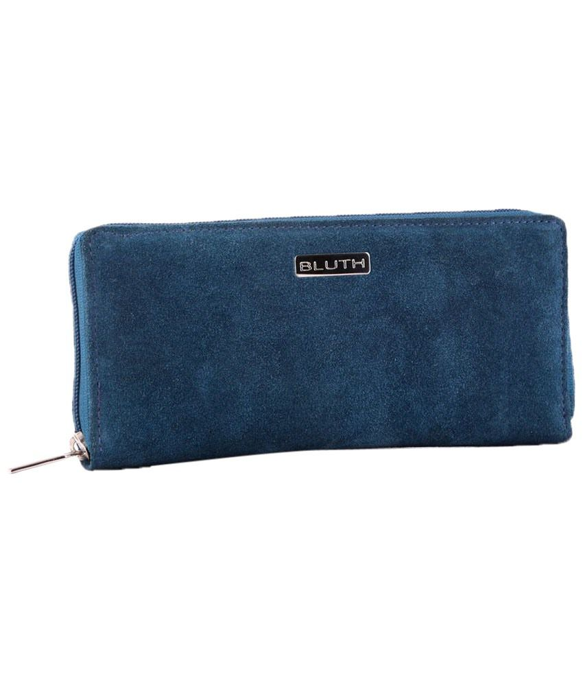Bluth Blue Casual Wallet for Women