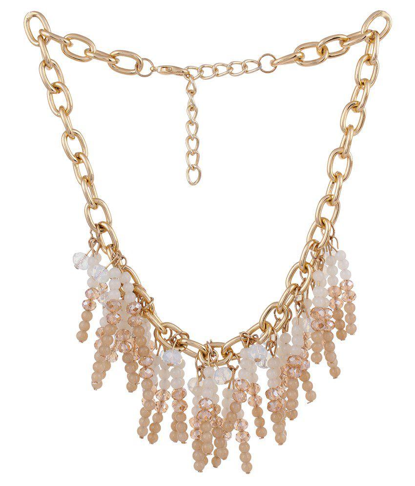 La Amber Multichain Tassel Necklace