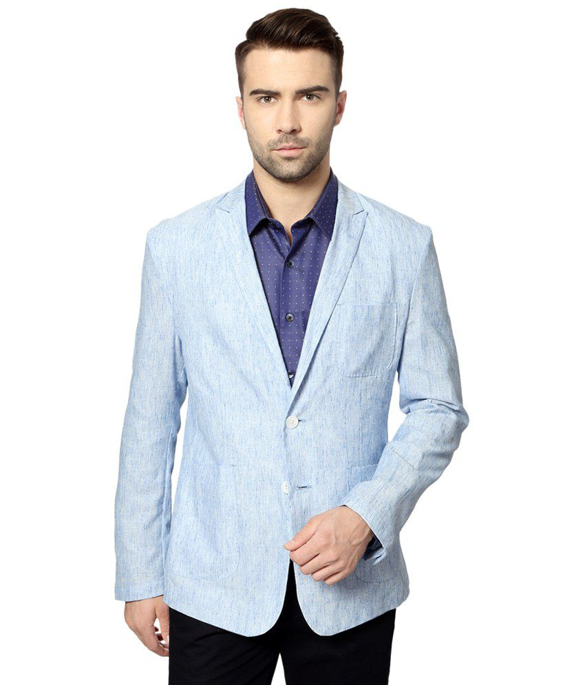 Peter England Light Blue Party Wear Blazer For Men - Buy ...