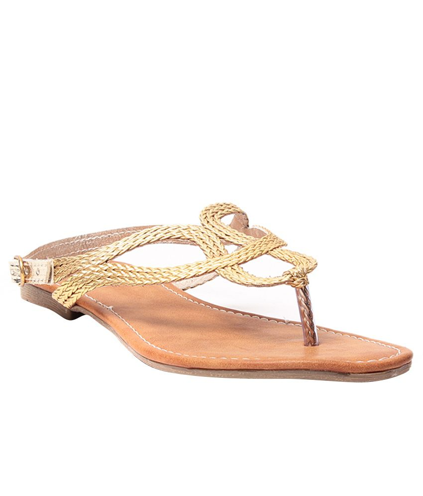 Steppings Gold Sandals