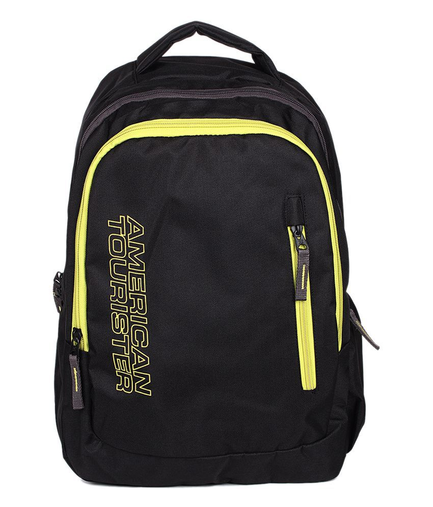 american tourister black polyester backpack buy american