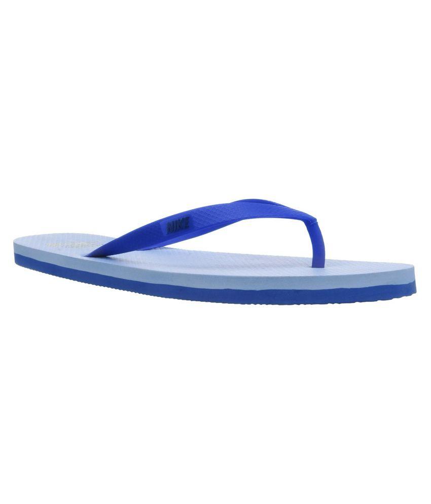 Nike Blue \u0026 White Flip Flop Price in