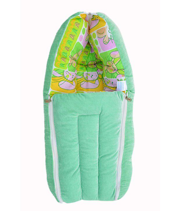 Younique Green Cotton Sleeping Bags ( 66 cm × 50 cm)