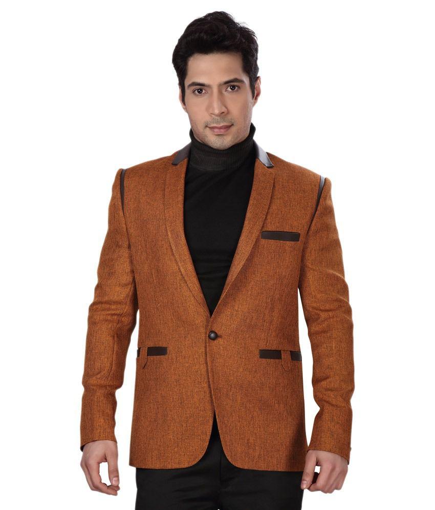 Dheerajsharma Brown Linen Blazer