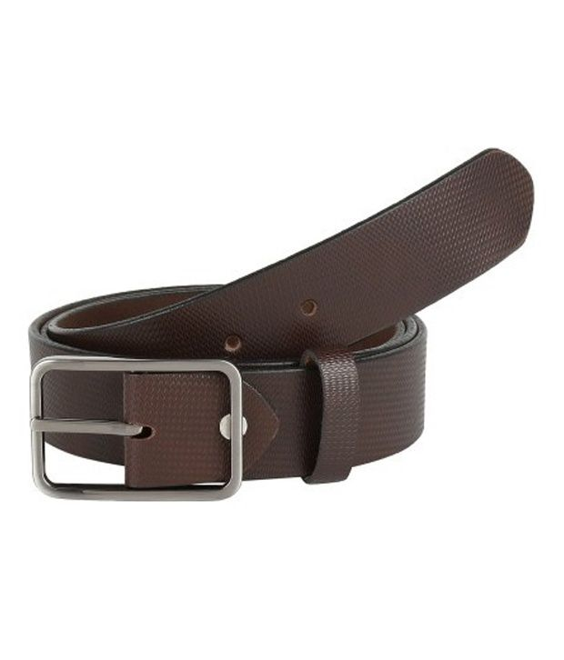 Global Leather Brown Leather Formal Belt