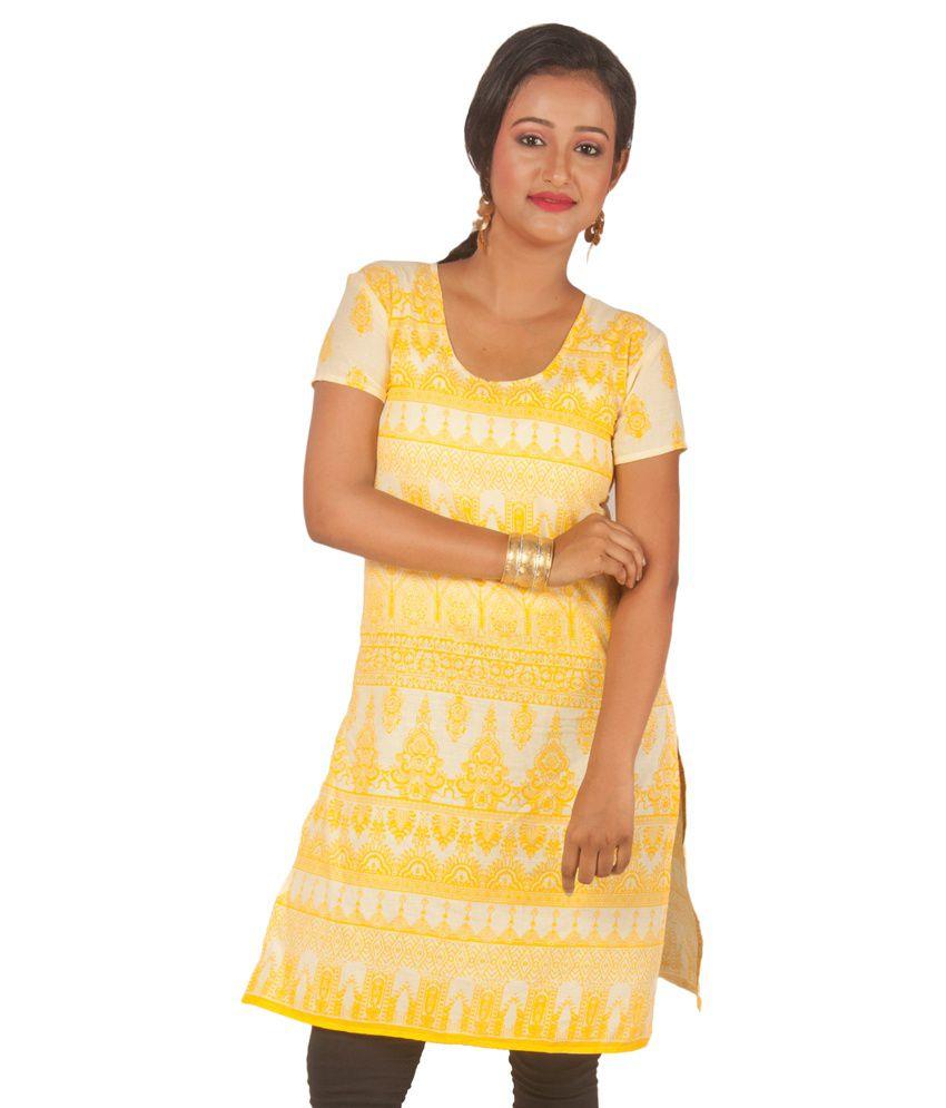Riiti Designs Yellow Cotton Kurti