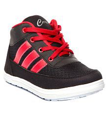 Trilokani Smart Black Sport Shoes For Boys