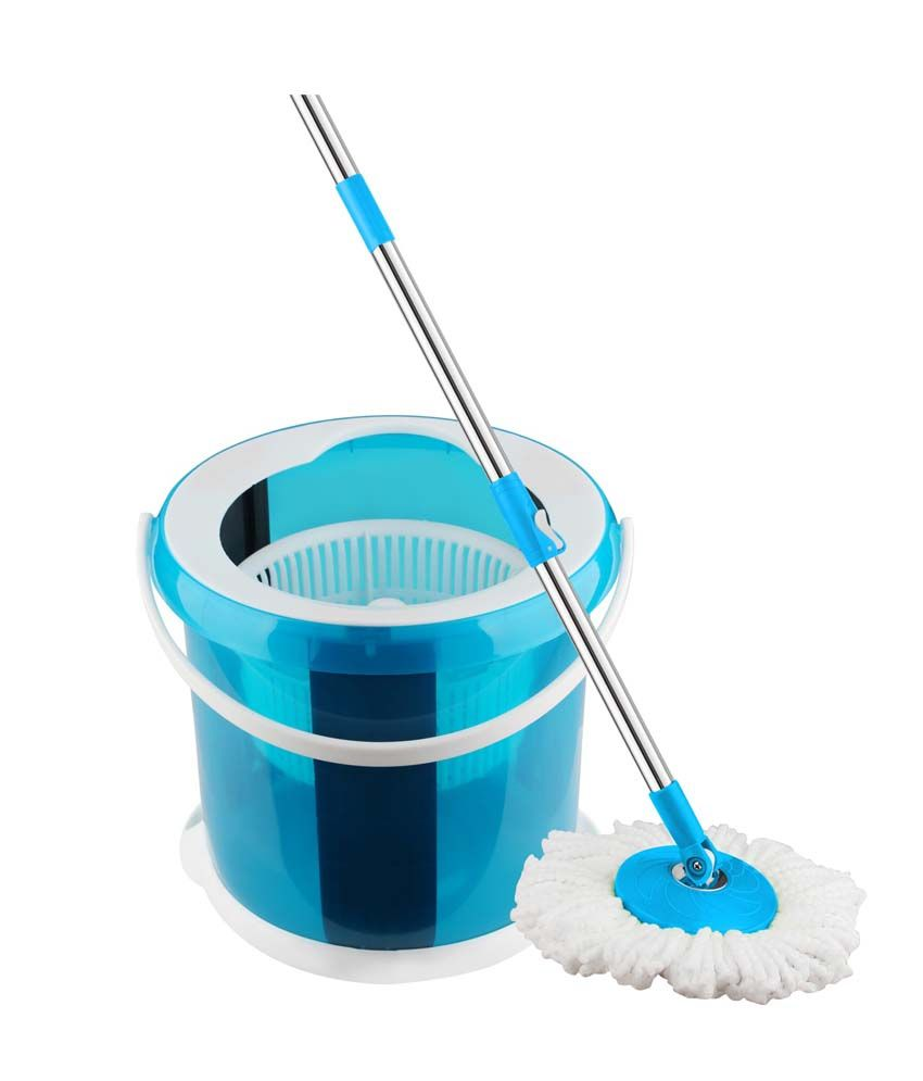Blessed Single Bucket Mop Round Blue
