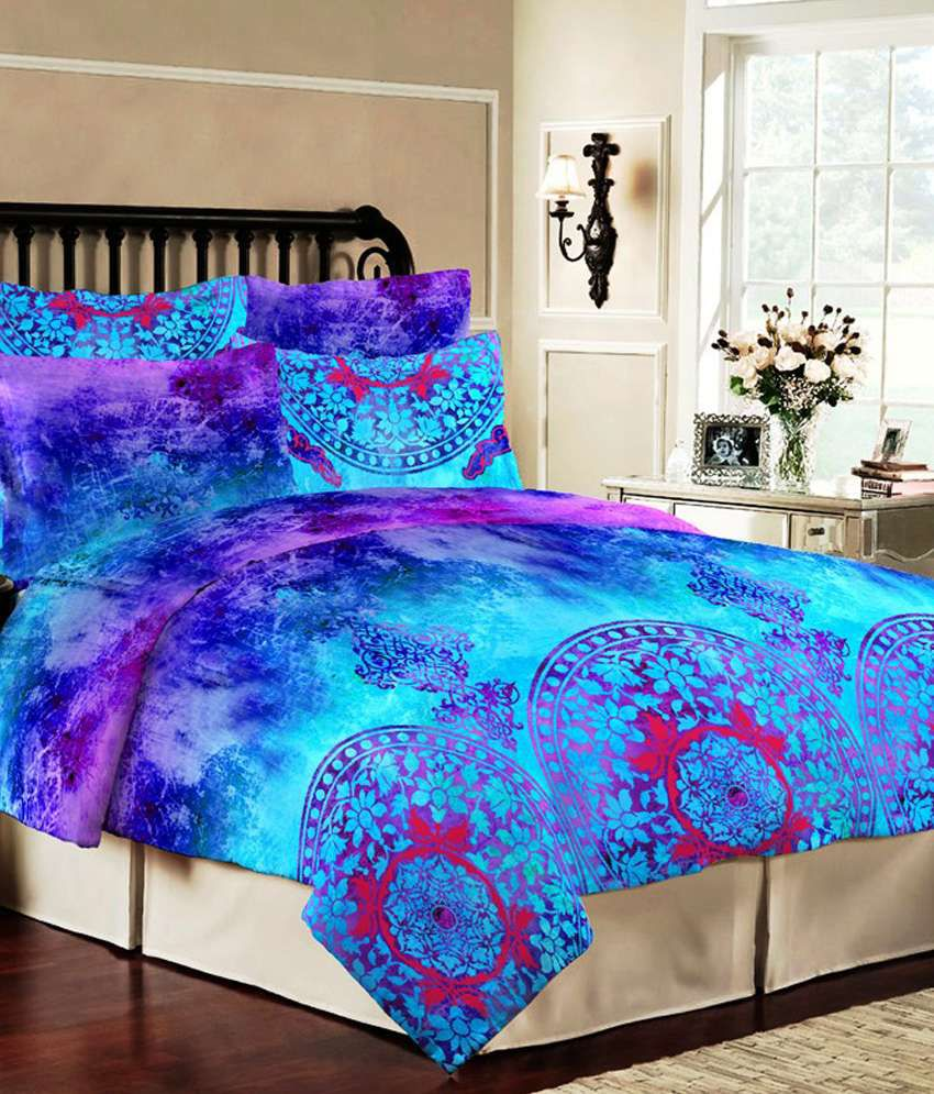 bombay dyeing colours of india colours of indiablue cotton double