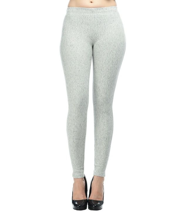 Frenchtrendz Gray Cotton Jeggings