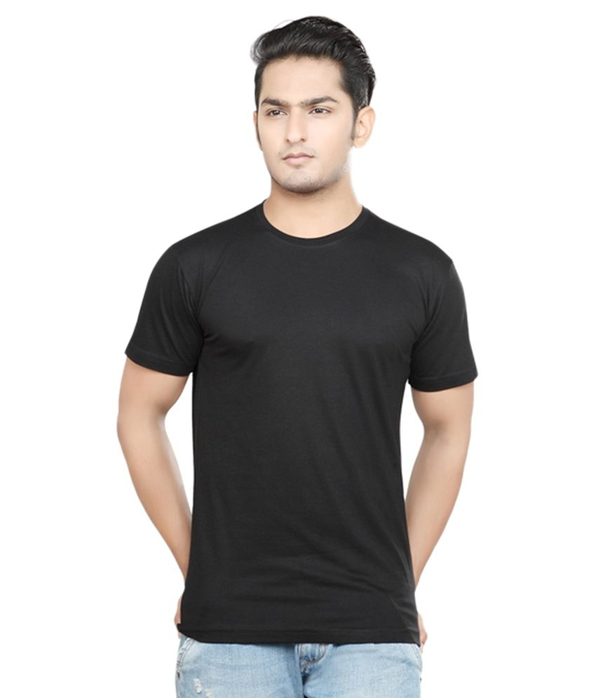 Rh Black Cotton Blend T Shirt - Set Of 2
