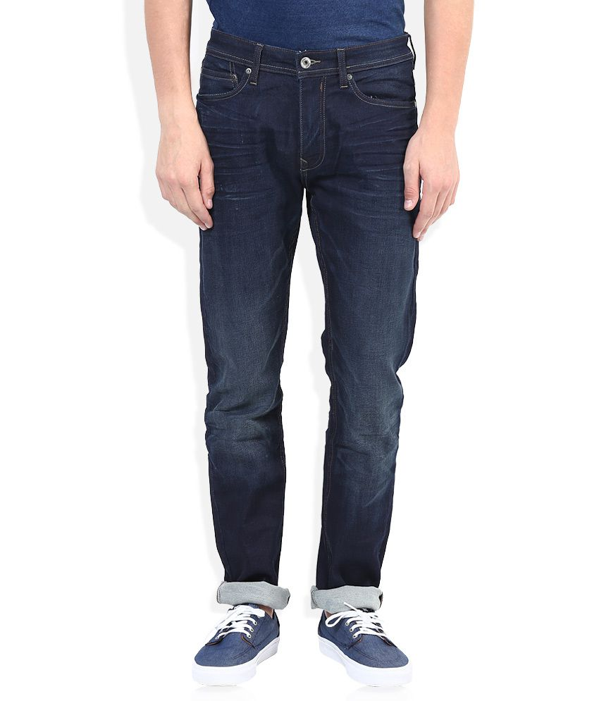 Celio Blue Medium Wash Regular Fit Jeans
