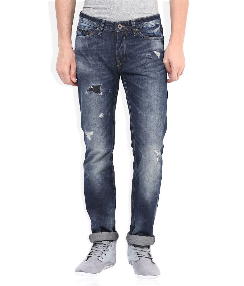 Celio Blue Slim Fit Jeans