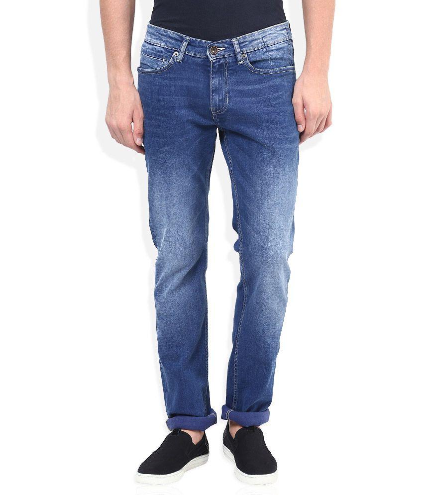 Celio Blue Light Wash Regular Fit Jeans