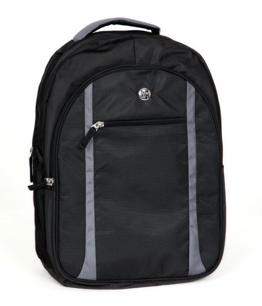 Premium Black Canvas Laptop Bag For HP Laptops