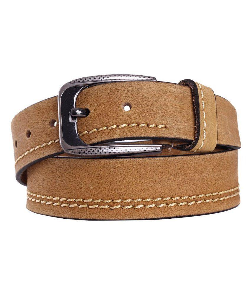 Indiwagon Brown Casual Pin Buckle Belt For Men