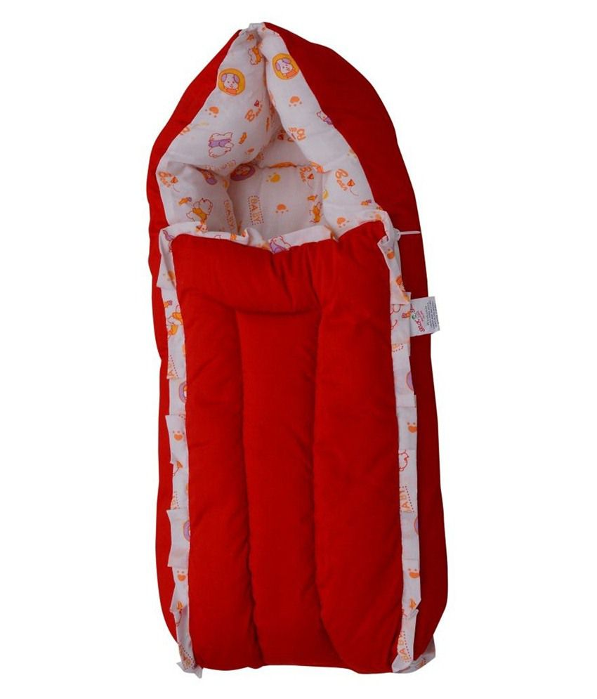 Jack & Jill Red & White Baby Bedding Set, Baby Bed, Baby Carrier & Sleeping Bag Just Born