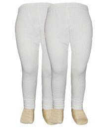 Selfcare White Viscose Thermal Pyjama - Set Of 2