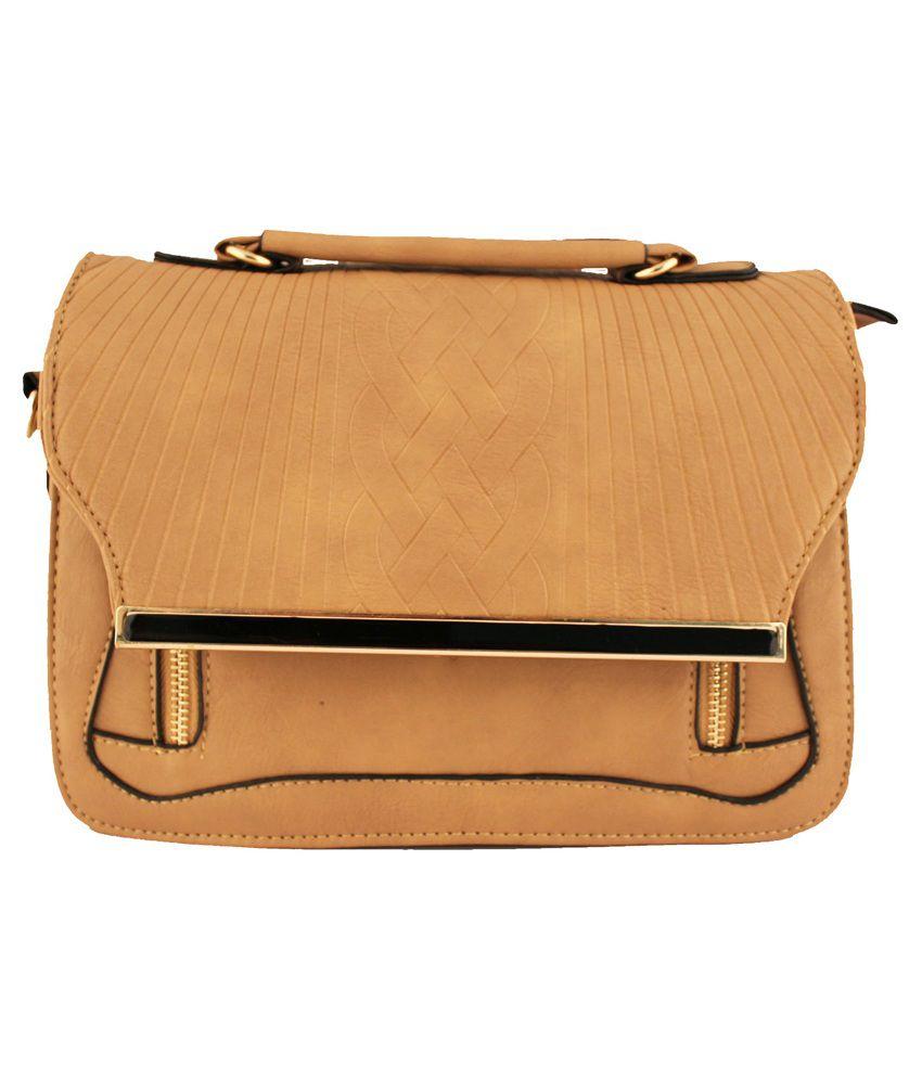 Damit Khaki Classy Sling Bag - Buy Damit Khaki Classy Sling Bag ...