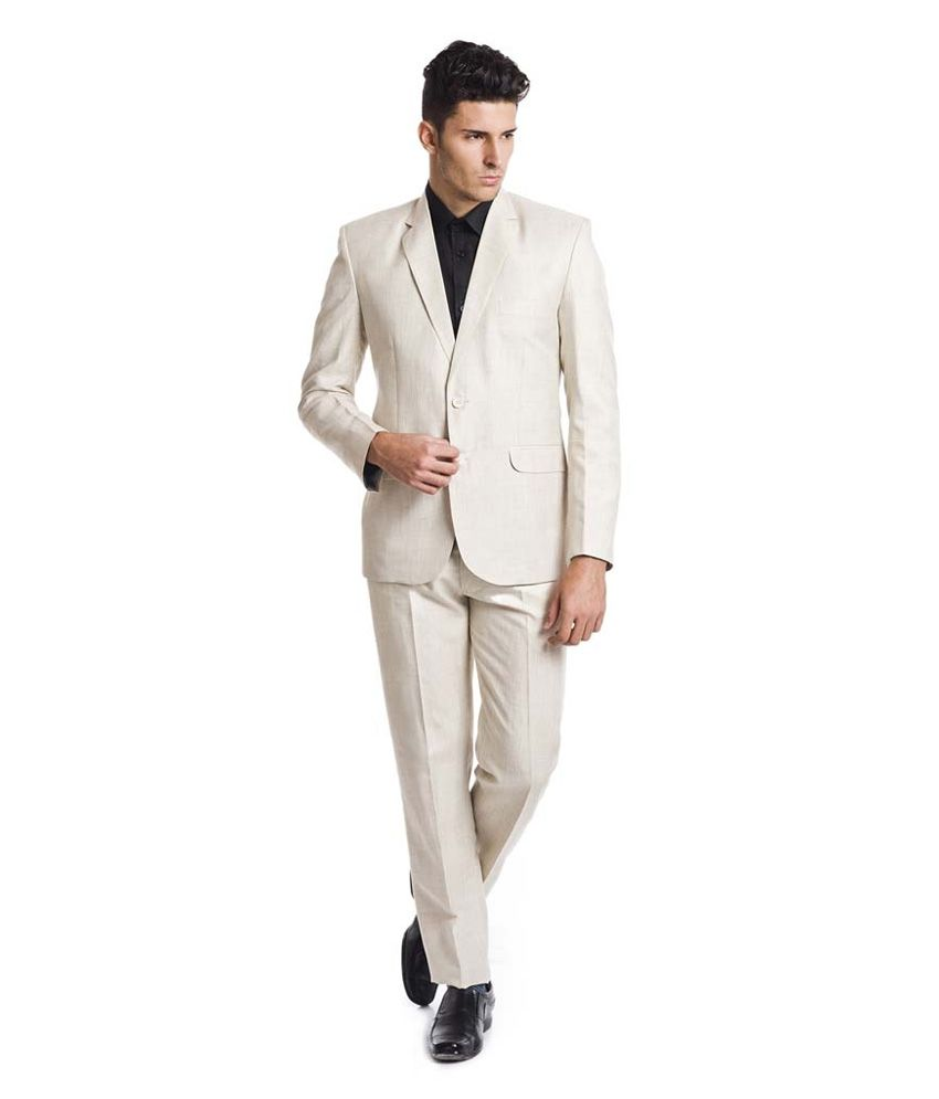 Sisman International White Formal Suit