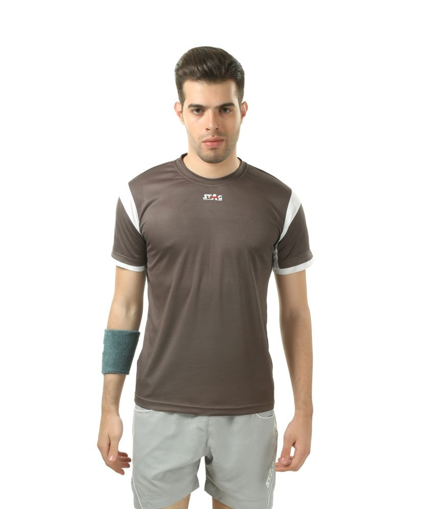 Stag Brown Polyester T-shirt