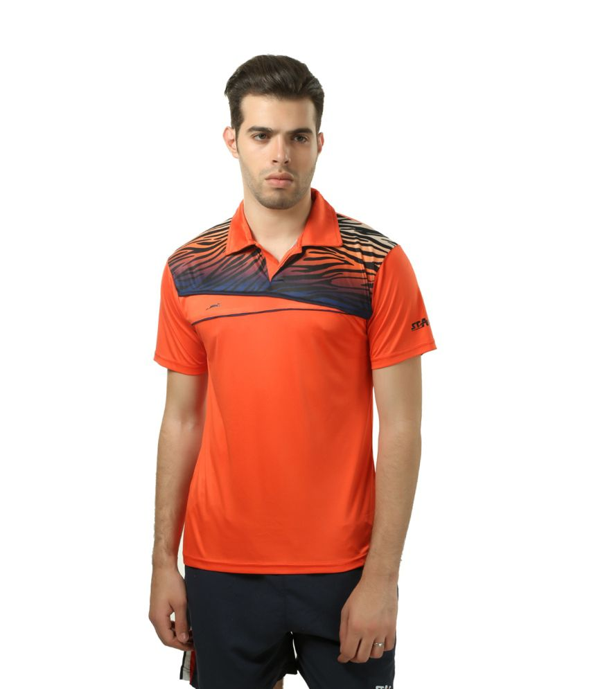 Stag Orange Polyester T-shirt
