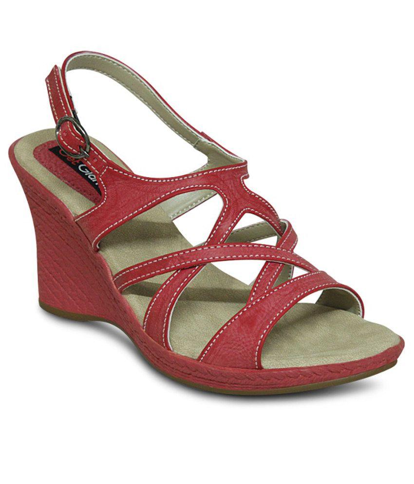 Get Glamr Red Heeled Sandals