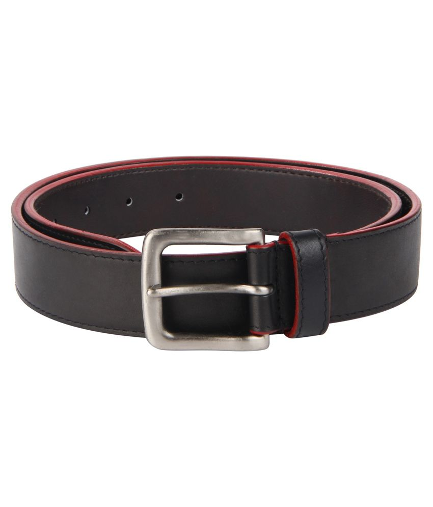 Kaizu Black Pin Buckle Formal Leather Belt