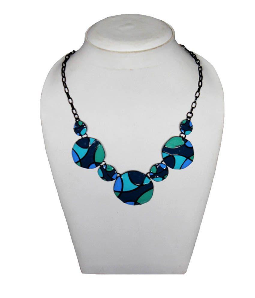 Beingwomen Blue Alloy Necklace