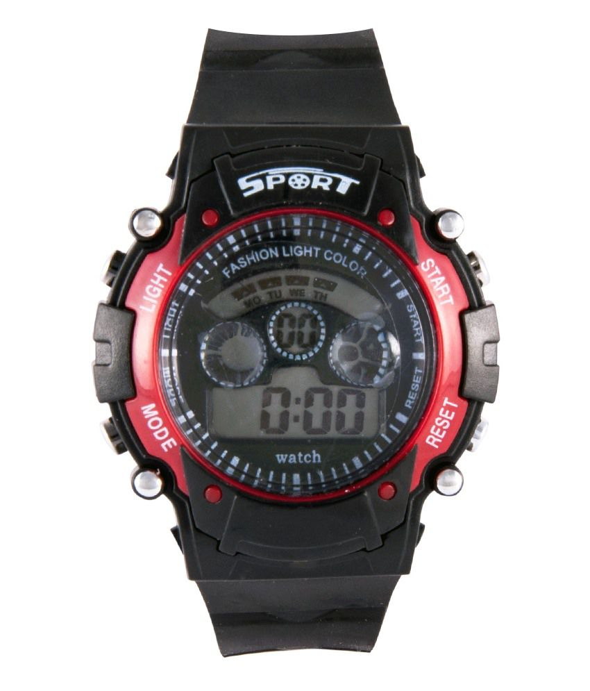 Iwmart Black Sports Digital Watch For Kids