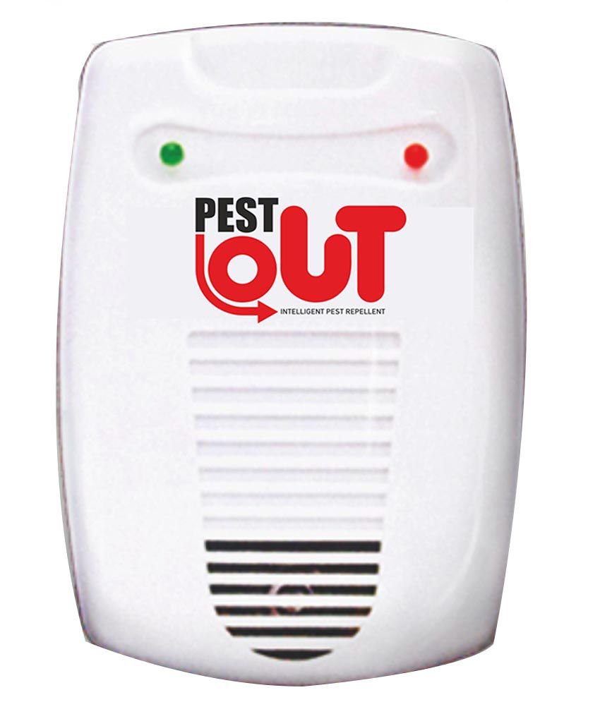 Pest Out Ultrasonic Pest Repellent (white) - Set Of 2
