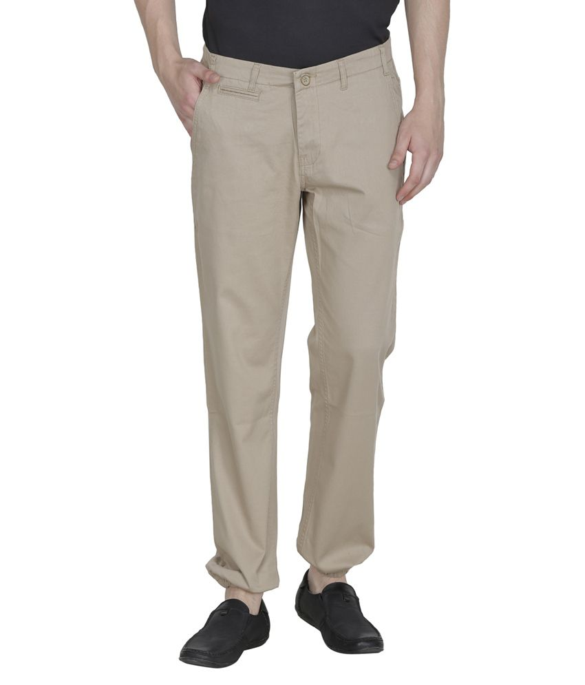 United Colors Of Benetton Khaki Slim Fit Casual Trouser Chinos