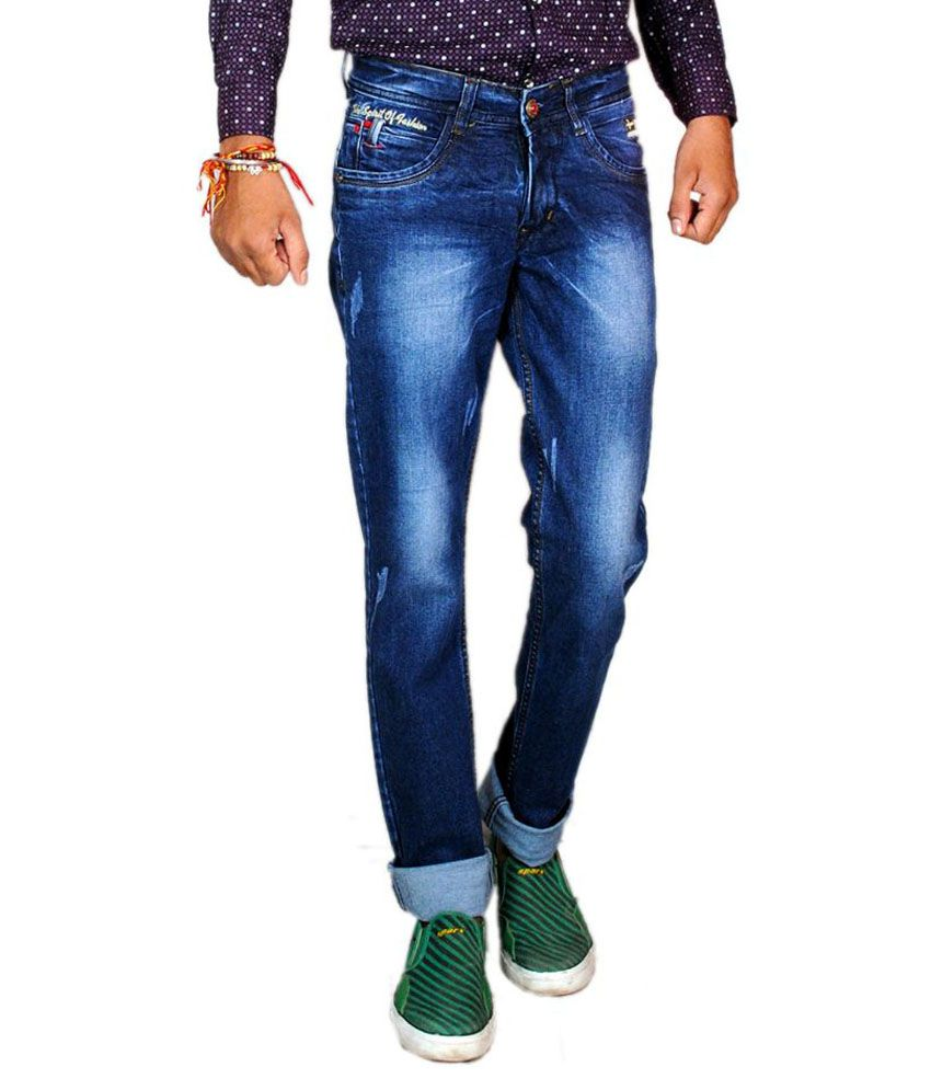 Oti Blue Slim Fit Jeans