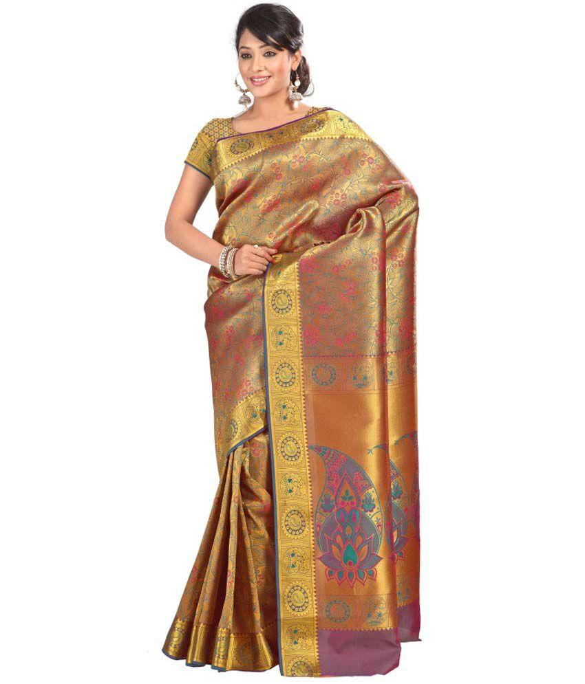 87a42078c2 Saree Exotica Multi Art Silk Saree - Buy Saree Exotica Multi Art Silk Saree  Online at Low Price - Snapdeal.com