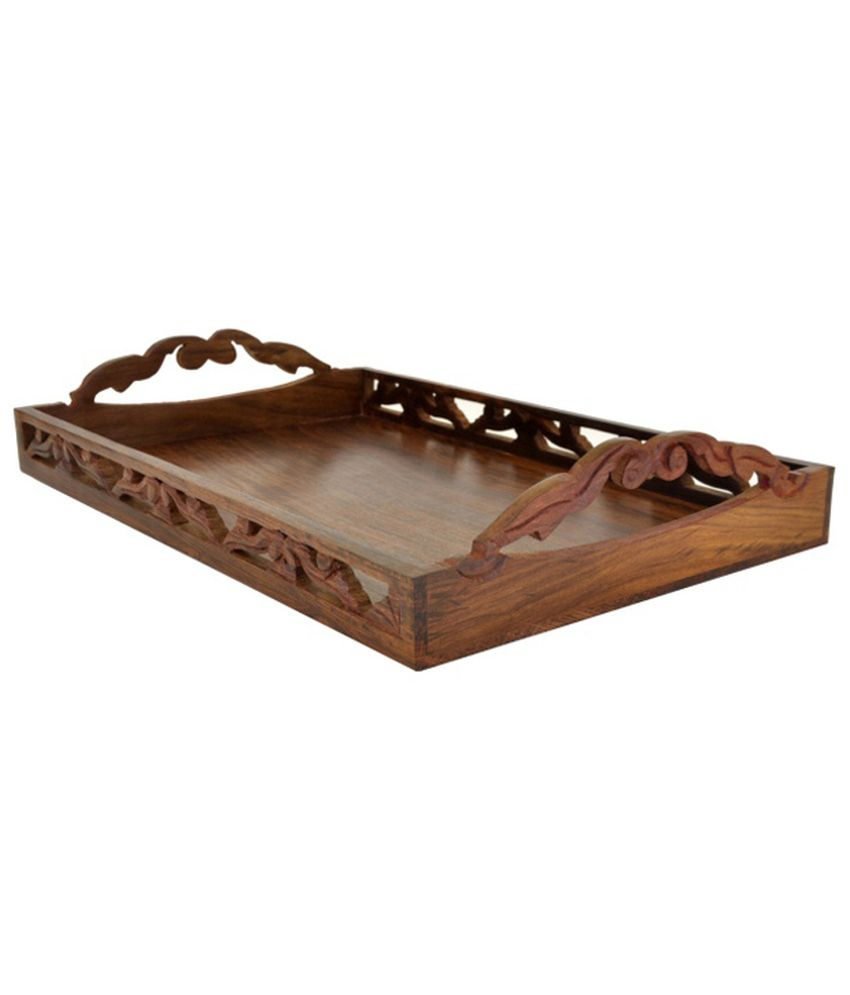 Woodsmith Brown Wooden Serving Tray Buy Online At Best