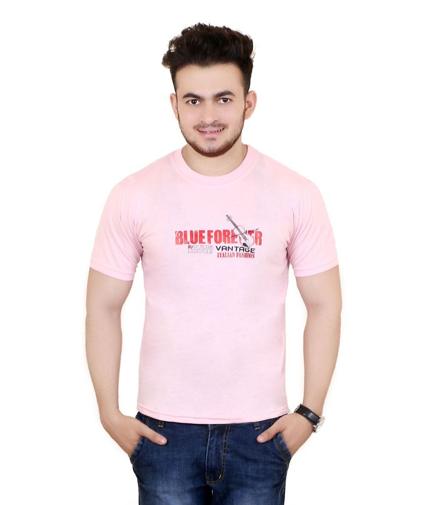 Zrestha Pink 100 Percent Cotton T Shirt