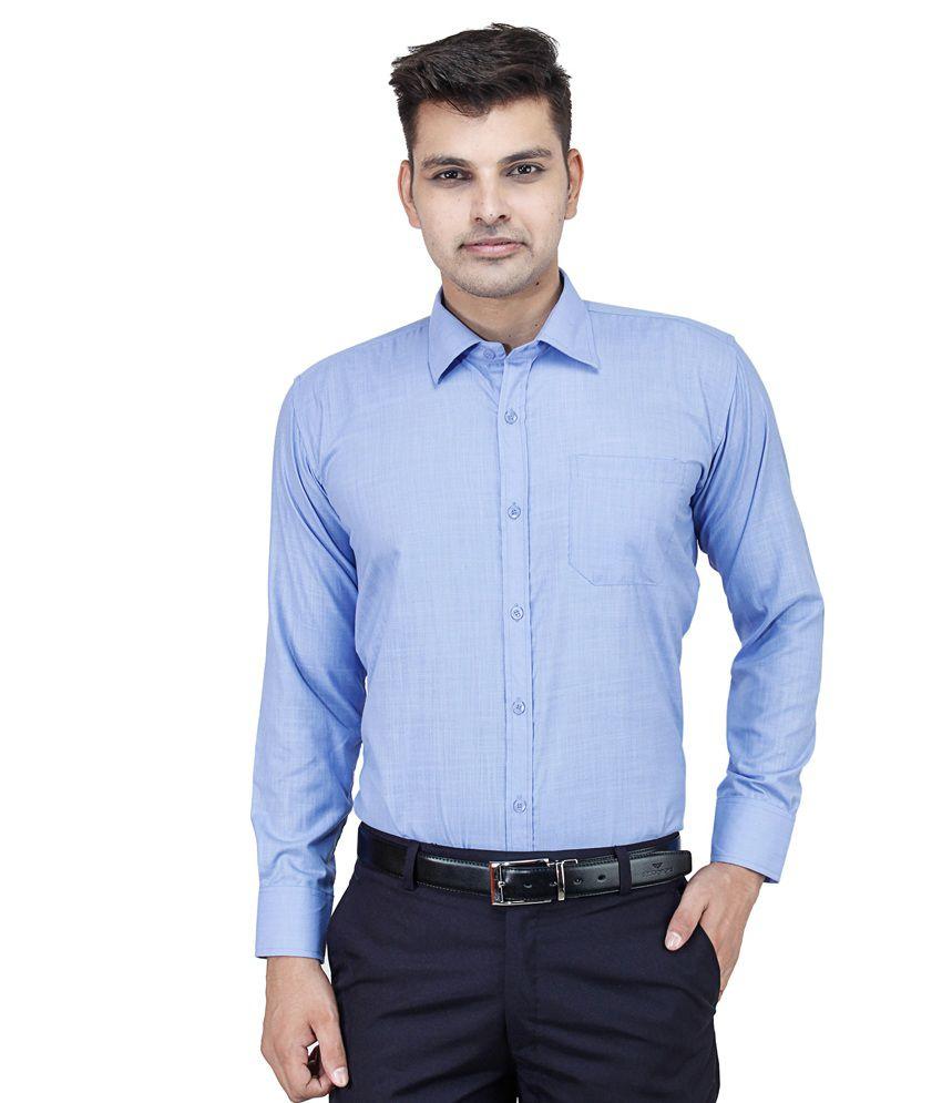 Frankline Blue Cotton Shirt Buy Frankline Blue Cotton