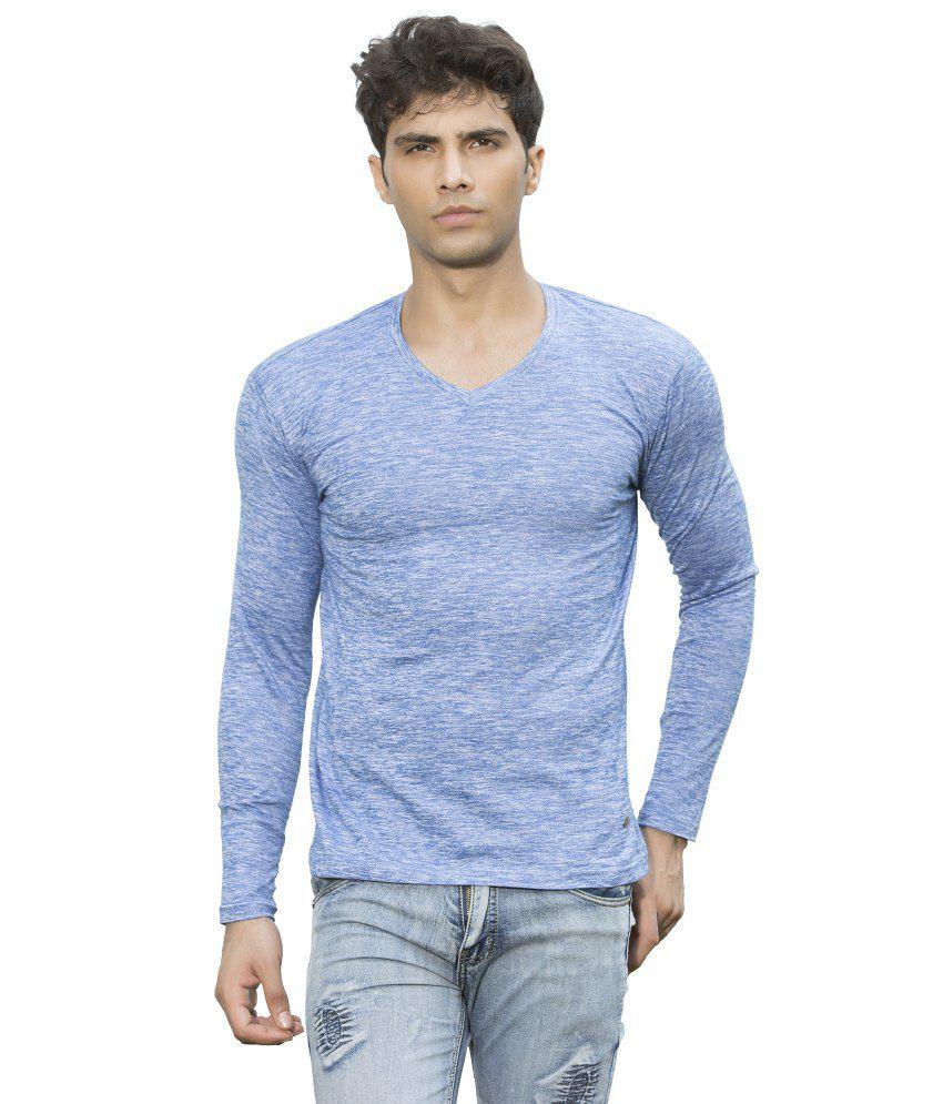 Maniac Blue Cotton Blend T-Shirt