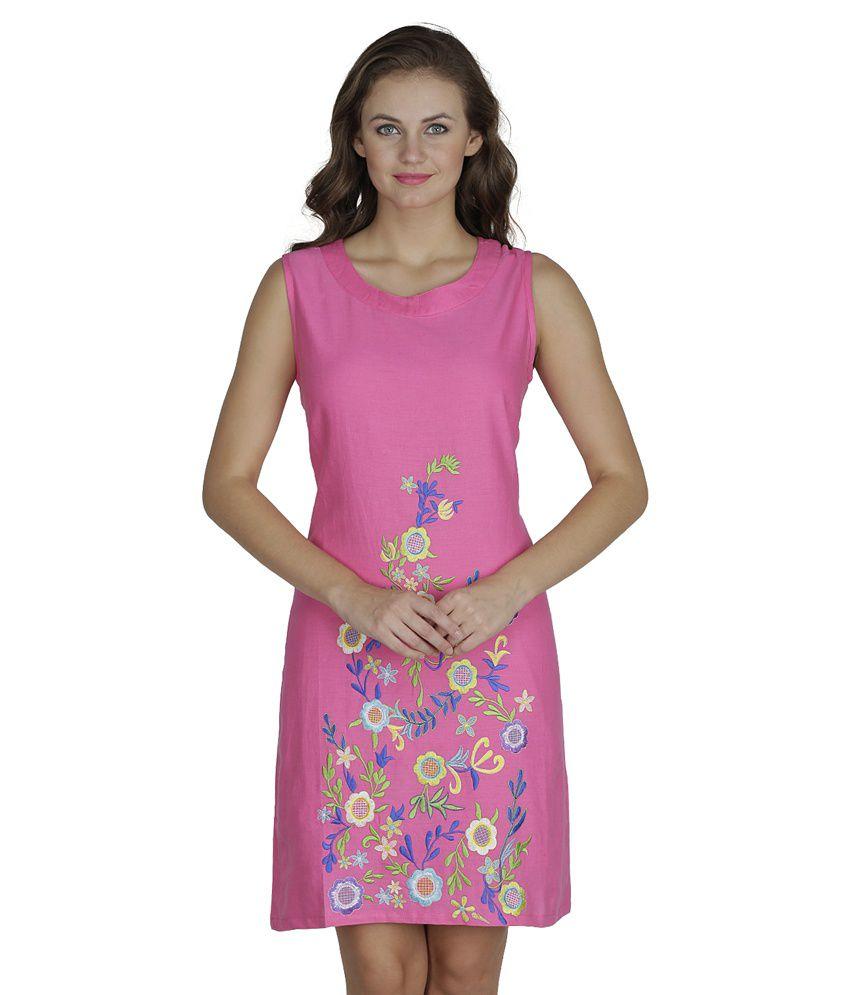 SVT ADA Collections Pink Linen Dresses