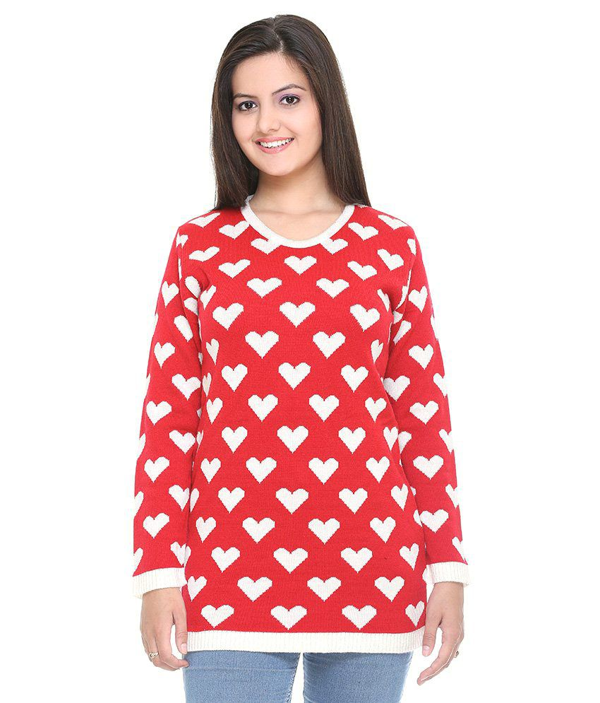 Cee - For Red Woollen Pullovers