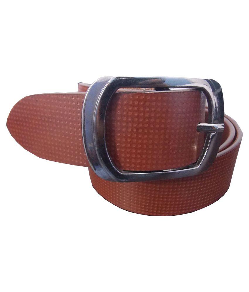 Ekora Brown Leather Pin Buckle Belt