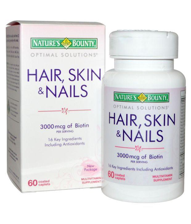Natures Bounty Optimal Solutions Hair Skin Nails