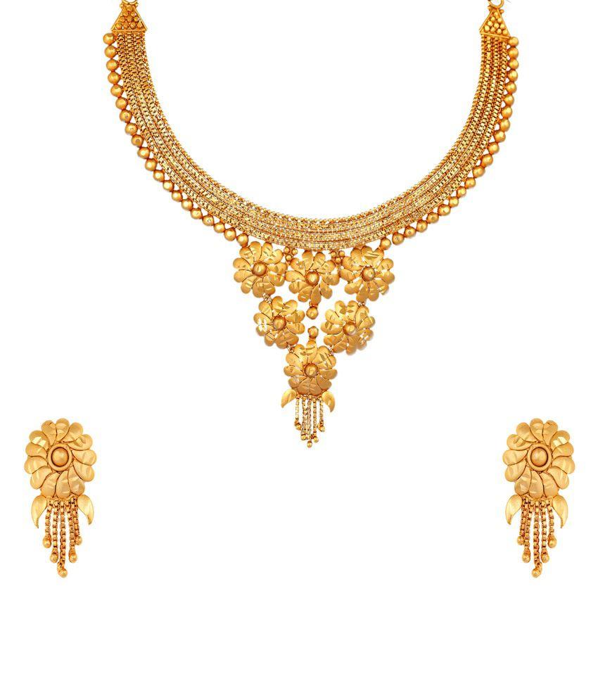 Navya Gold Copper Necklace Set