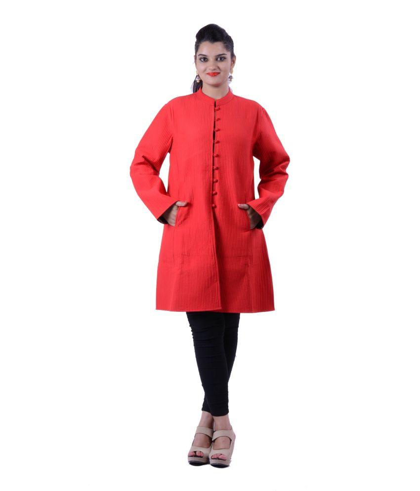 Ridhi Red Silk Long Jackets