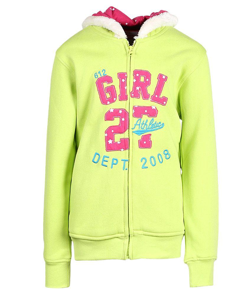 612 League Neon Green Hooded Zipper Sweatshirt