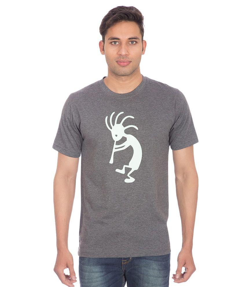 Mars Grey Cotton T Shirt