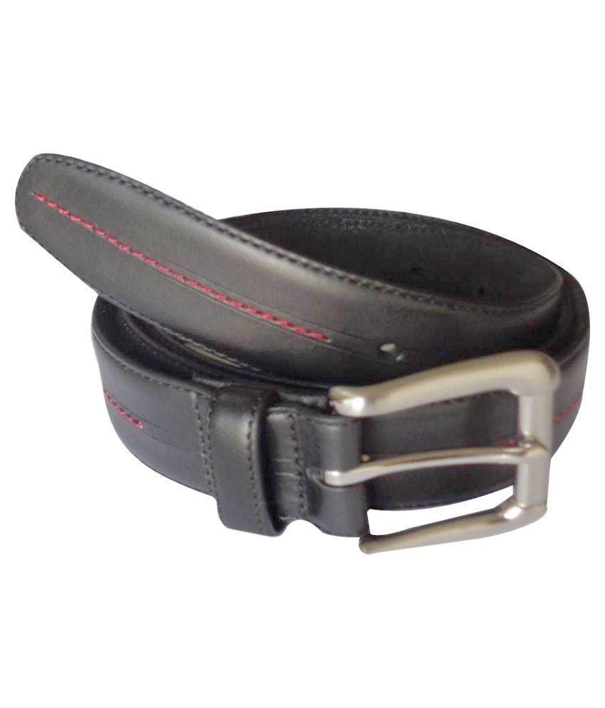 Sirmax Industries Black Leather Formal Belt - Set of 9
