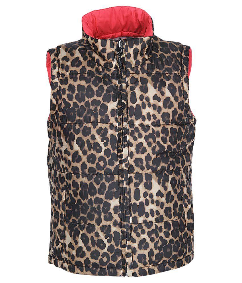 612 League Brown Leopard Print Jacket